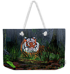 Jungle Cat Weekender Tote Bag by Myrna Walsh
