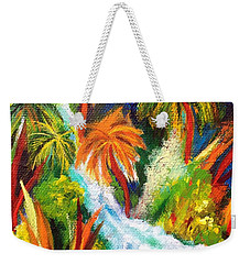 Jungle Falls Weekender Tote Bag by Elizabeth Fontaine-Barr