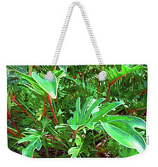 Jungle Greenery Weekender Tote Bag