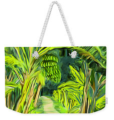 Weekender Tote Bag featuring the digital art Jungle Path by Jean Pacheco Ravinski