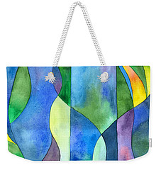 Jungle River Abstract Weekender Tote Bag