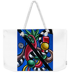 Jungle Stripes 1 - Abstract Painting Weekender Tote Bag