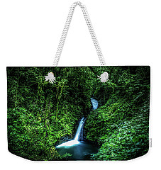 Weekender Tote Bag featuring the photograph Jungle Waterfall by Nicklas Gustafsson