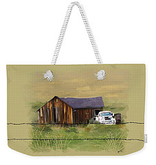 Weekender Tote Bag featuring the painting Junk Truck by Susan Kinney