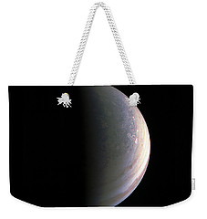 Weekender Tote Bag featuring the photograph Juno Closing In On Jupiter's North Pole by Nasa
