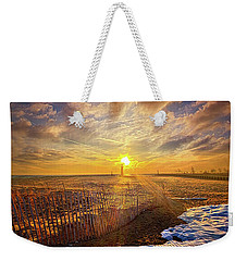 Weekender Tote Bag featuring the photograph Just A Bit More To Go by Phil Koch