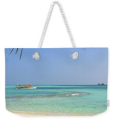 Just A Boat Ride Away Weekender Tote Bag by Corinne Rhode