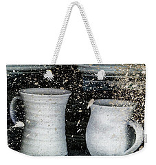 Weekender Tote Bag featuring the photograph Just A Little Too Fast On The Pottery Wheel by Steve Taylor