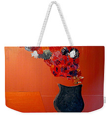 Weekender Tote Bag featuring the painting Just A Thought  Bill Oconnor by Bill OConnor