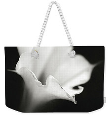 Just A White Flower Weekender Tote Bag by Eduard Moldoveanu
