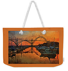 Just After Sunset On Yaquina Bay Weekender Tote Bag