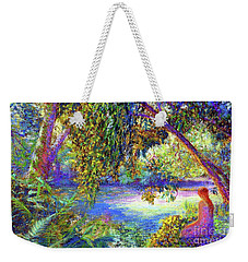 Weekender Tote Bag featuring the painting Just Be by Jane Small