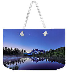 Weekender Tote Bag featuring the photograph Just Before The Day by Jon Glaser