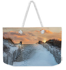 Weekender Tote Bag featuring the photograph Just Beyond by Robin-Lee Vieira