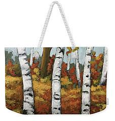 Just Birches Weekender Tote Bag