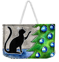 Just Counting Balls - Christmas Cat Weekender Tote Bag