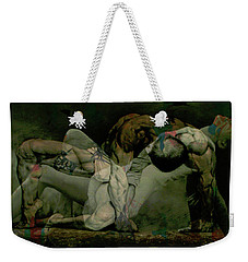 Weekender Tote Bag featuring the digital art Just Give Me A Reason by Paul Lovering