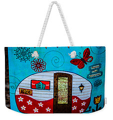 Just Go  Weekender Tote Bag