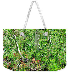 Just Growing Wild Weekender Tote Bag by Marilyn Diaz