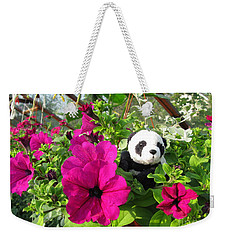 Weekender Tote Bag featuring the photograph Just Hanging In There by Ausra Huntington nee Paulauskaite