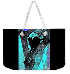 Black Cat- Violet Moon Weekender Tote Bag