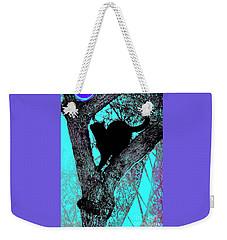 Fauve Cat And Moon Weekender Tote Bag