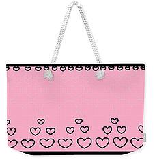 'just Hearts 8' Weekender Tote Bag