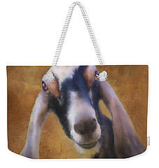 Weekender Tote Bag featuring the mixed media Just Kidding Around by Colleen Taylor