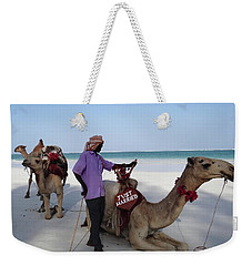 Just Married Camels Kenya Beach 2 Weekender Tote Bag
