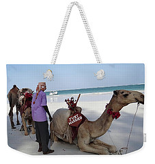 Just Married Camels Kenya Beach Weekender Tote Bag
