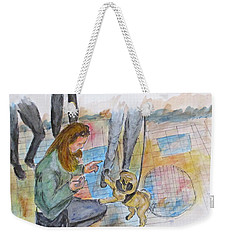 Just One More Weekender Tote Bag by Clyde J Kell