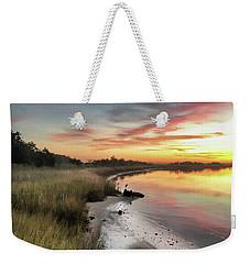 Weekender Tote Bag featuring the photograph Just The Two Of Us At Sunset by Phil Mancuso
