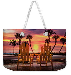 Weekender Tote Bag featuring the photograph Just The Two Of Us by Debra and Dave Vanderlaan