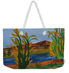Just This Side Of The River Weekender Tote Bag by Maria Urso