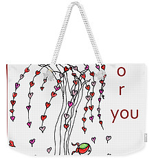 Just Waiting For You Weekender Tote Bag