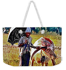 Just Walking His Water Buffalo Weekender Tote Bag