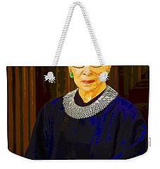Justice Ginsburg Weekender Tote Bag