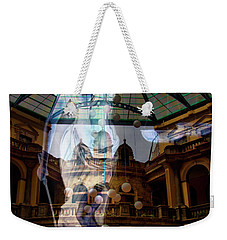 Weekender Tote Bag featuring the photograph Justice Is Blind by Al Bourassa