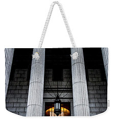 Justice Is The Firmest Pillar Weekender Tote Bag by James Aiken