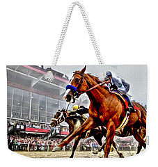 Justify Wins Preakness Weekender Tote Bag