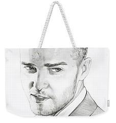 Justin Timberlake Drawing Weekender Tote Bag