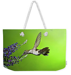 Juvenile Female Hummingbird On Butterfly Bush Weekender Tote Bag