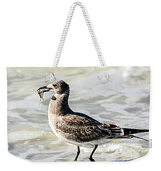 Juvenile Gull With Fish Weekender Tote Bag