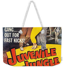 Weekender Tote Bag featuring the digital art Juvenile Jungle by Reinvintaged