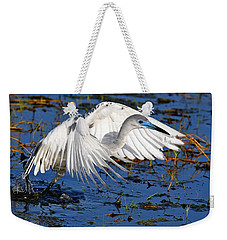Juvenile Little Blue Heron Weekender Tote Bag