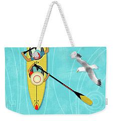 K Is For Kayak And Kittiwake Weekender Tote Bag