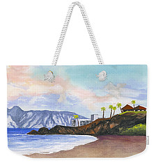 Weekender Tote Bag featuring the painting Kaanapali Beach by Darice Machel McGuire