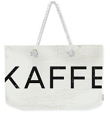 Weekender Tote Bag featuring the mixed media Kaffe Sign- Art By Linda Woods by Linda Woods