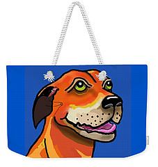 Kai With Blue Background Weekender Tote Bag