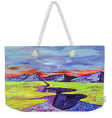 Weekender Tote Bag featuring the photograph Kailey's Canyon by Brenda Pressnall